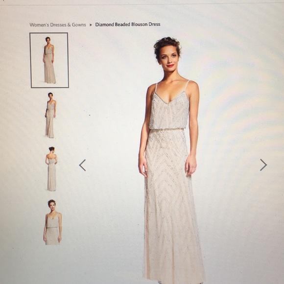 0000e05b5a Adrianna Papell Dresses   Skirts - Adrianna Papell Diamond Beaded Blouson  Dress